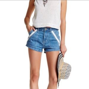 Free People Sweet Surrender Denim Shorts